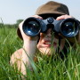 Girls with Binoculars on a Safari