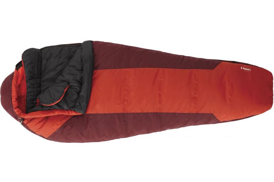 Red sleeping bag for kilimanjaro trek